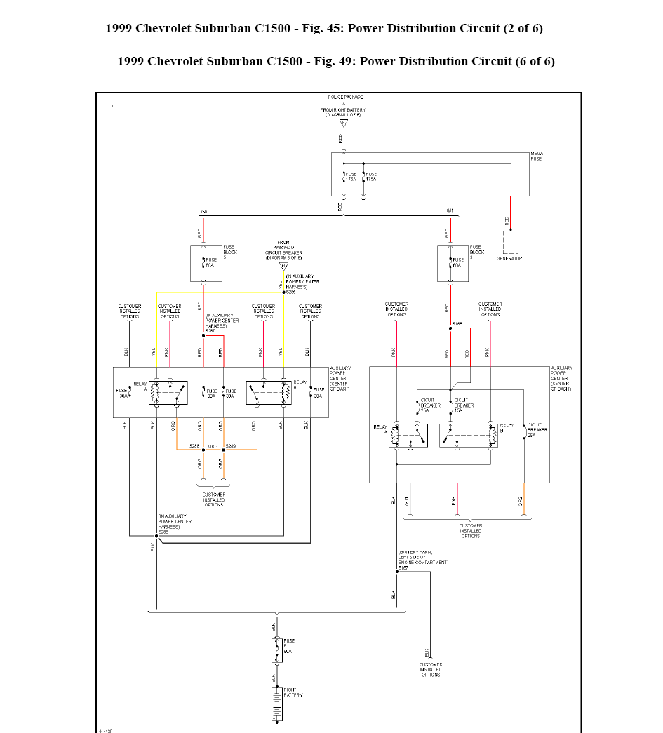 I Need A Wiring Diagram For A 1999 Suburban With A 5 7l