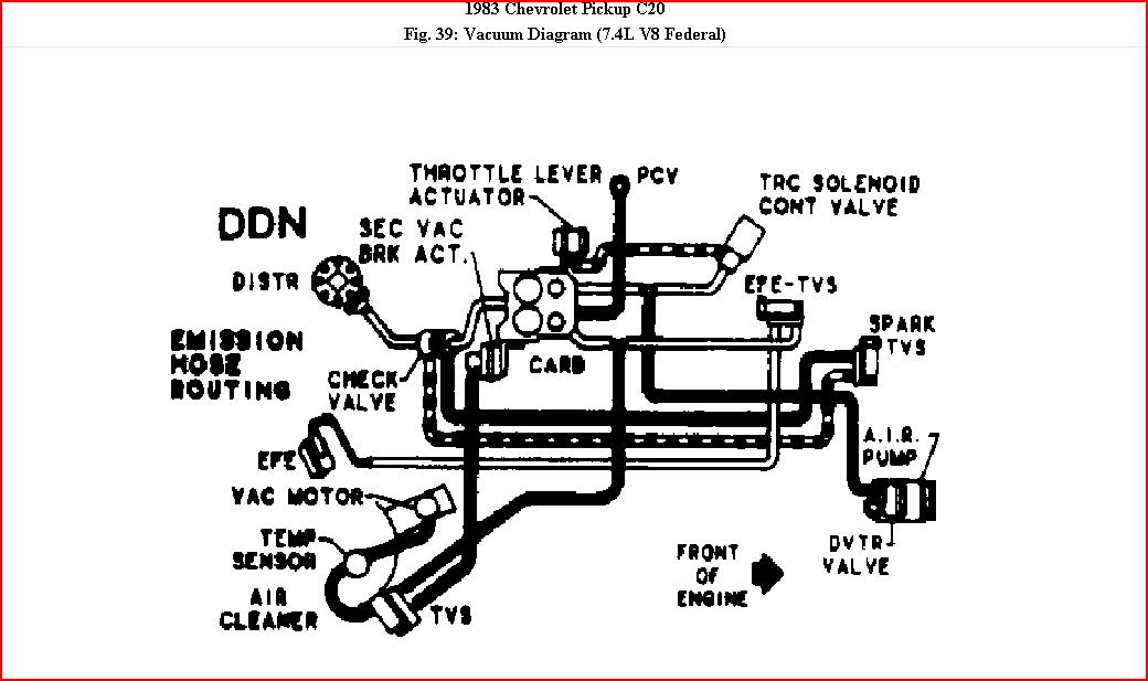 how can i get a vacuum diagram for a 1983 chev  truck with