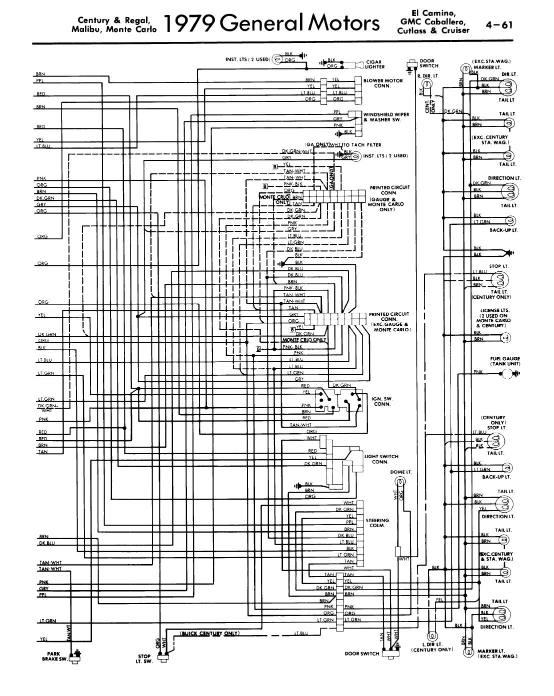 I Have A 79 Malibu Elcamino Ss With 43 4spd C What Color 1973 El Camino Wiring Diagram Graphic