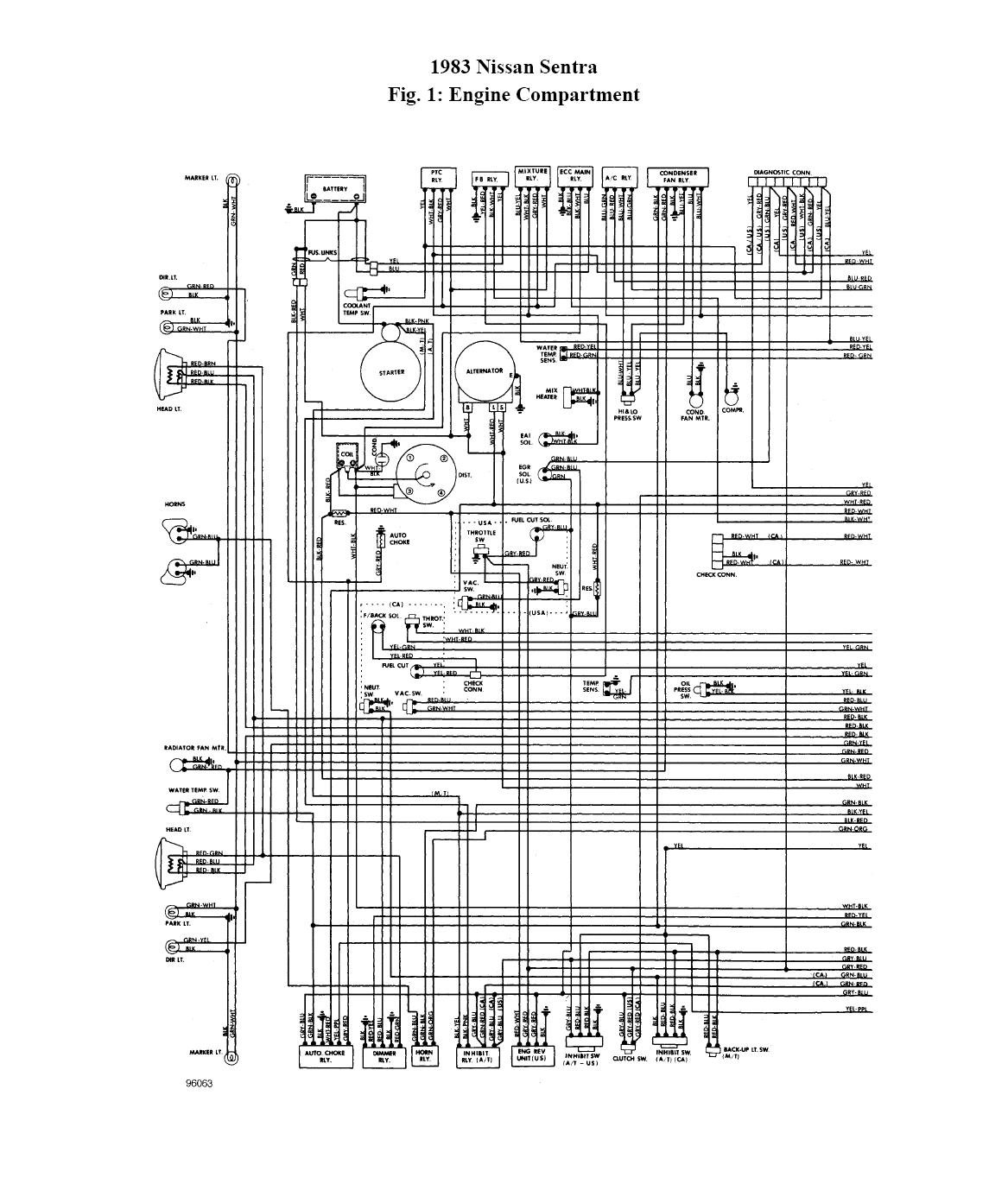 nissan 411 wiring diagram some of the electrical circuits