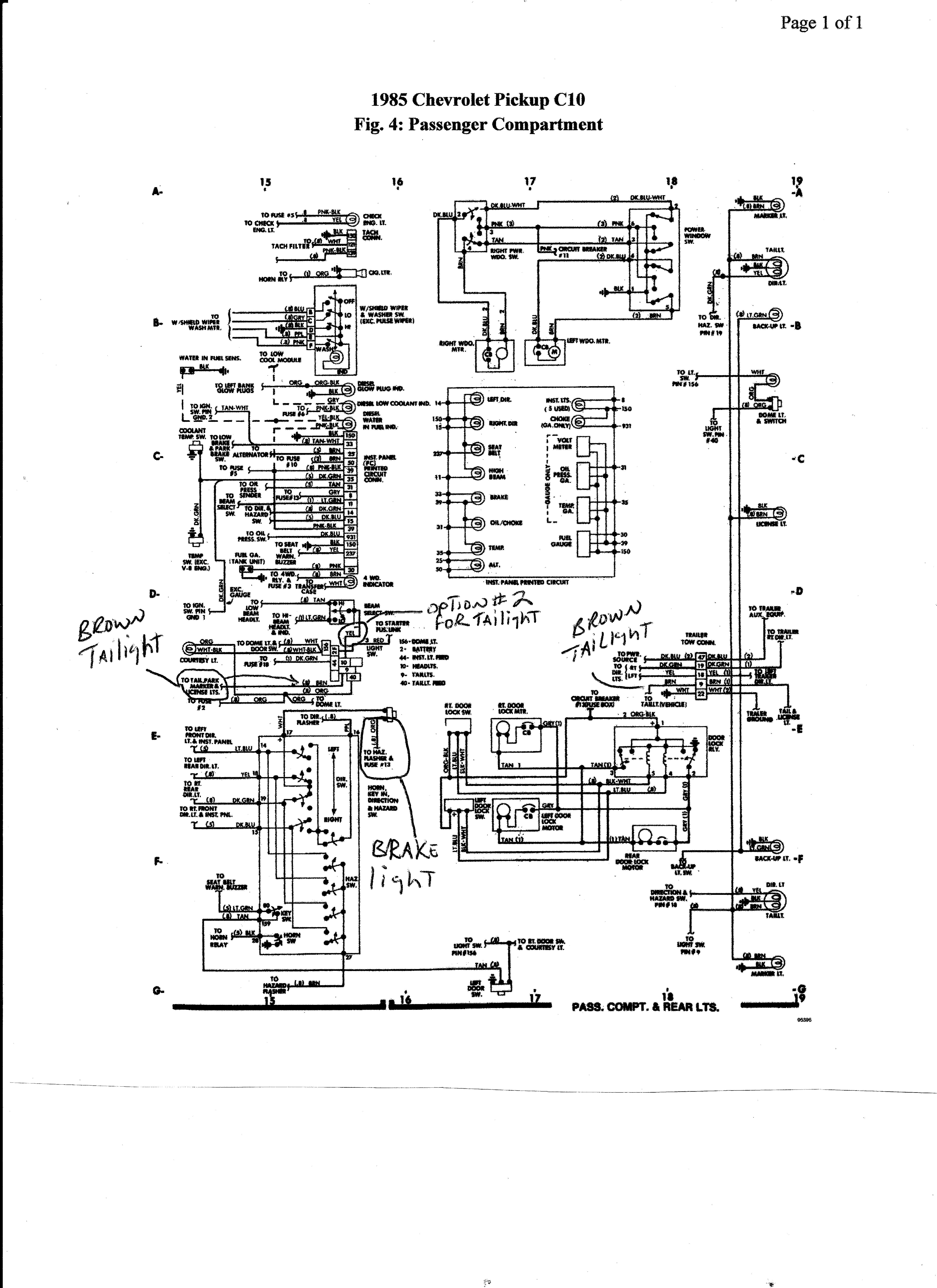 Berühmt 1985 Chevrolet Schaltplan Galerie - Die Besten Elektrischen ...