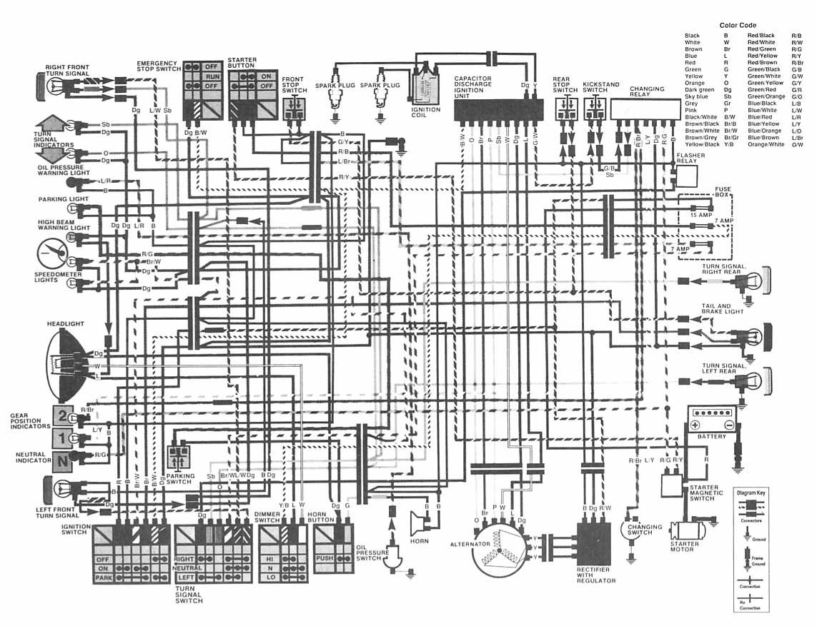 cm400c wiring diagram enthusiast wiring diagrams u2022 rh rasalibre co Honda Motorcycle Wiring Color Codes Honda Motorcycle Wiring Color Codes