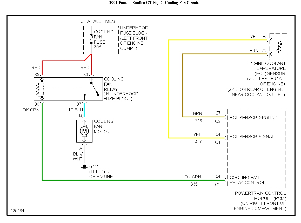 2001 Pontiac Sunfire Cooling Fan Wiring Diagram Diagrams Starter I Have A With 2 2l The Check Engine And Rh Justanswer Com