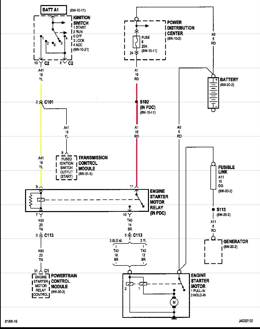 Diagram My 2001 Chrysler Sebring Will Not Crank It Has A New