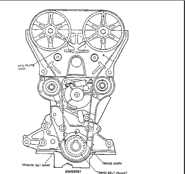 i just changed my water pump and timing belt on my 92 mazda miata i Mazda Millenia Suspension graphic graphic