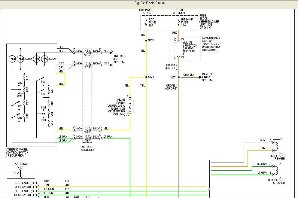 where can i find the parking brake negative wire for a 96 97 pontiac sunfire wiring diagram 96 pontiac sunfire wiring diagram