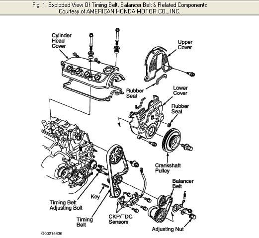 Timing Marks For A Honda Accord Ex 23rhjustanswer: 1999 Honda Accord Vtec Engine Diagram At Gmaili.net