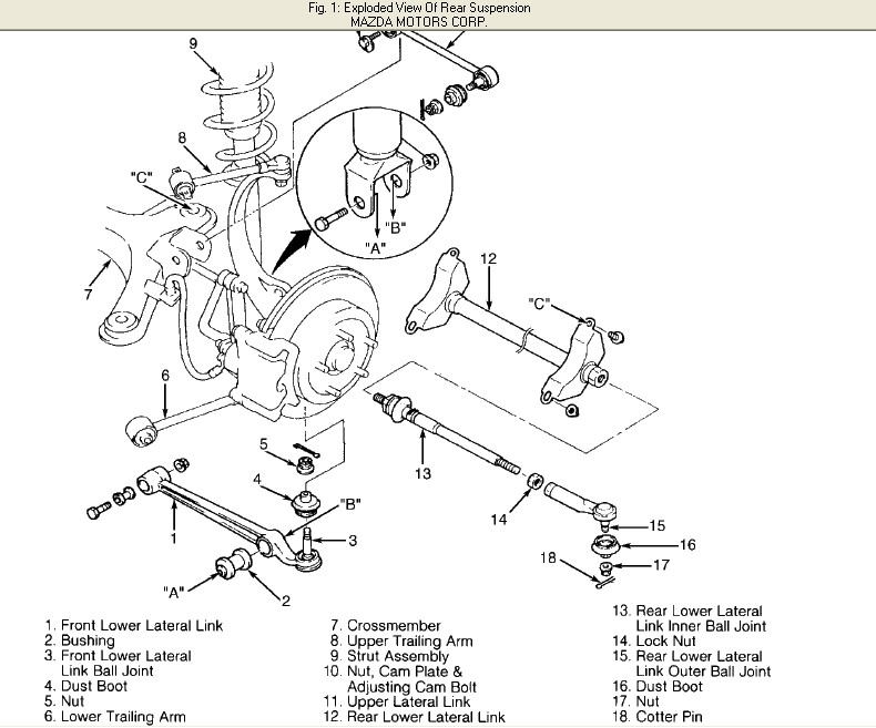 Mazda 3 Rear Suspension Diagram