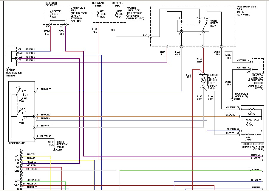 I Need A Wiring Diagram For My Ac On A 2000 Siena Van The