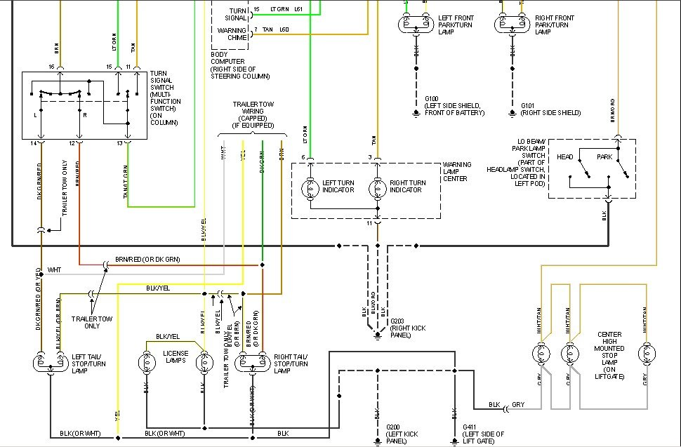 Need Wireing Diagram For 94 Plymouth Voyager Tail Light