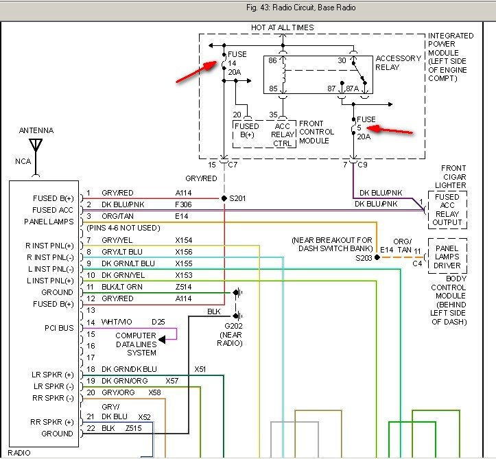 2012 Dodge Grand Caravan Stereo Wiring Diagram from www.justanswer.com