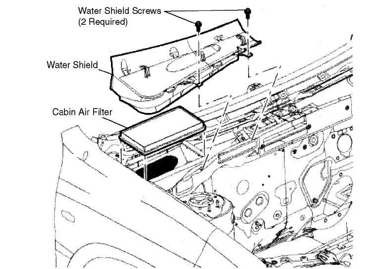2003 Ford Taurus Cabin Air Filter
