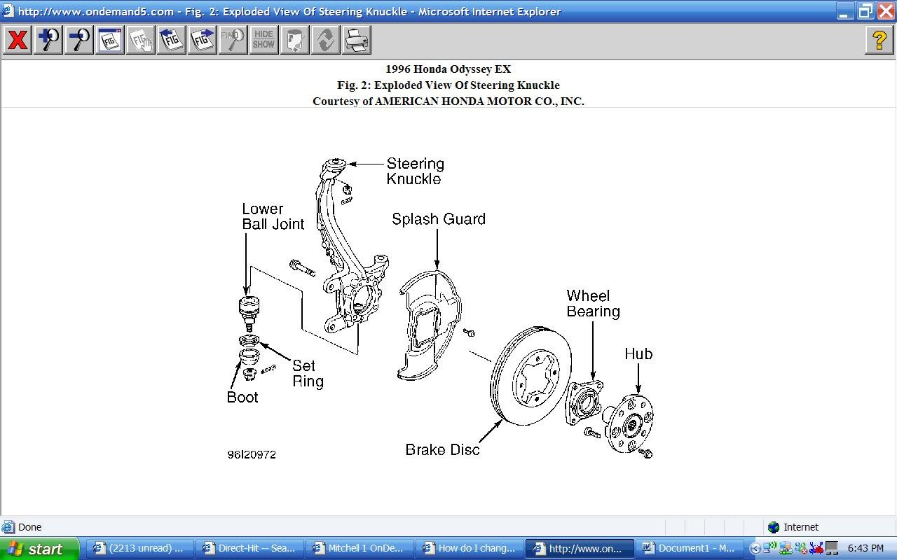 2010 Honda Odyssey Touring Wiring Diagram Explained Diagrams 2001 1996 Exhaust System U2022 Parts