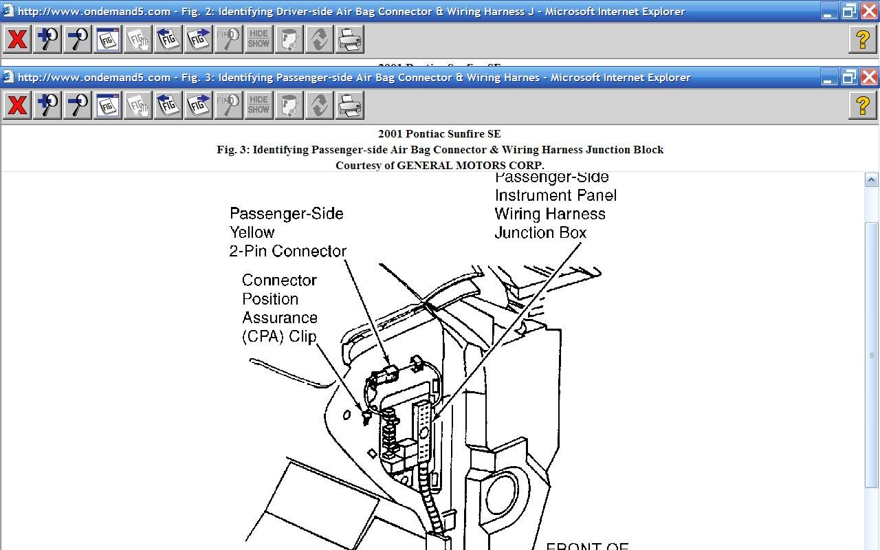 How Do I Disable The Air Bag And Take Off Steering Wheel On A 01 2001 Pontiac Sunfire Ignition Switch Wiring Diagram Graphic