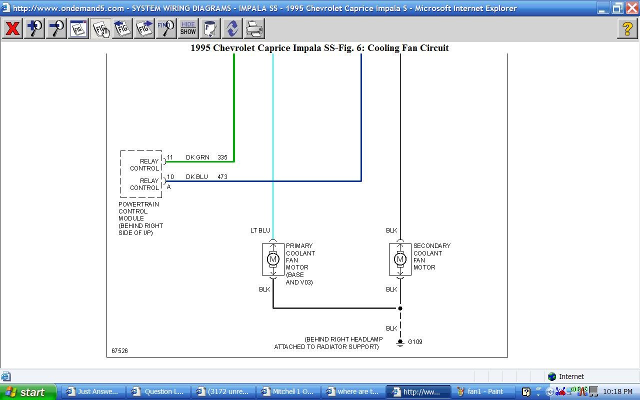 07 Impala Fan Relay Schematic Switch Wire Diagrams Chevy Cooling Wiring Where Are The And Found On A 95 Ss