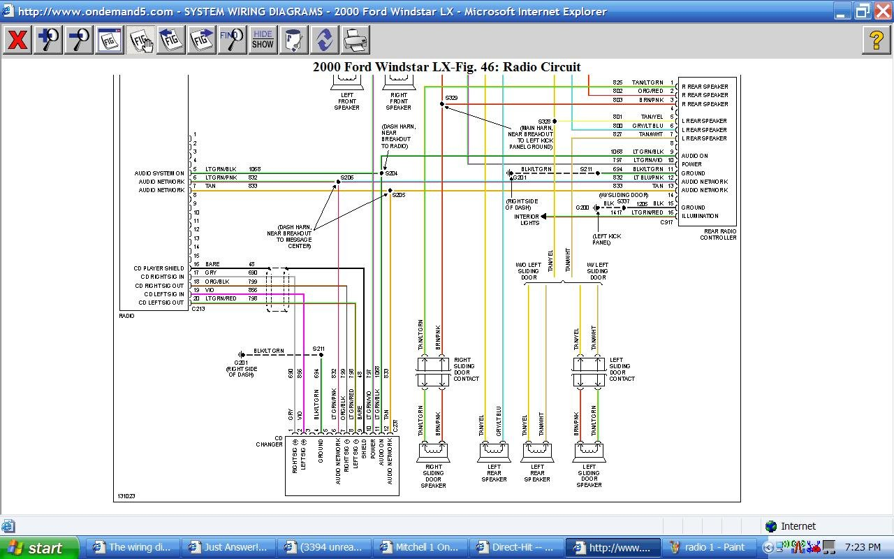 2008 08 21_192702_radio_2 the wiring diagram i have for my 2000 windstar doesn't match to 2000 ford windstar fuel pump wiring diagram at readyjetset.co