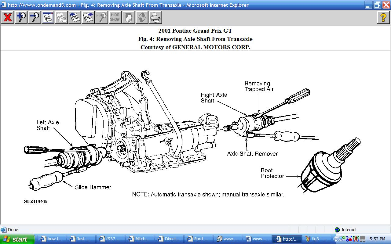 How To Remove The Driver Side Cv Joint 2001 Pontiac