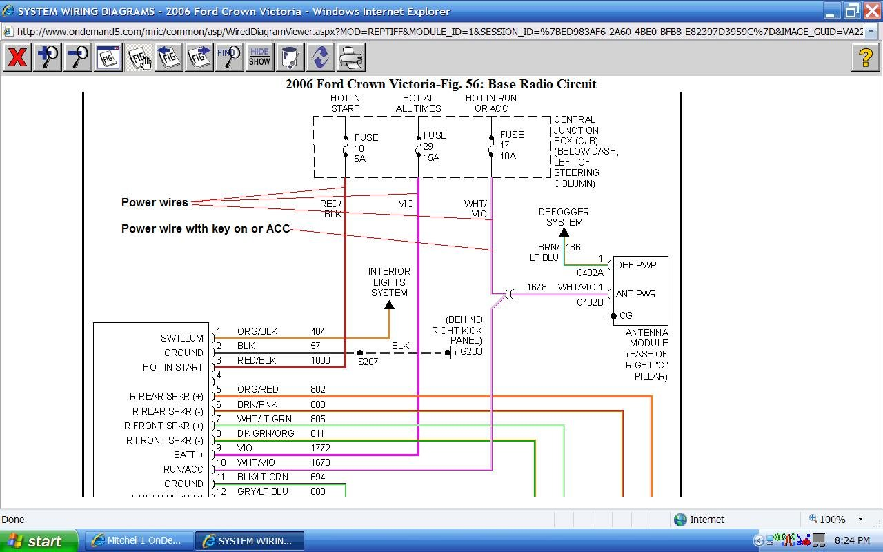 2008 Ford Crown Vic Wiring Diagram Diagrams Interceptor Victoria 39 Police
