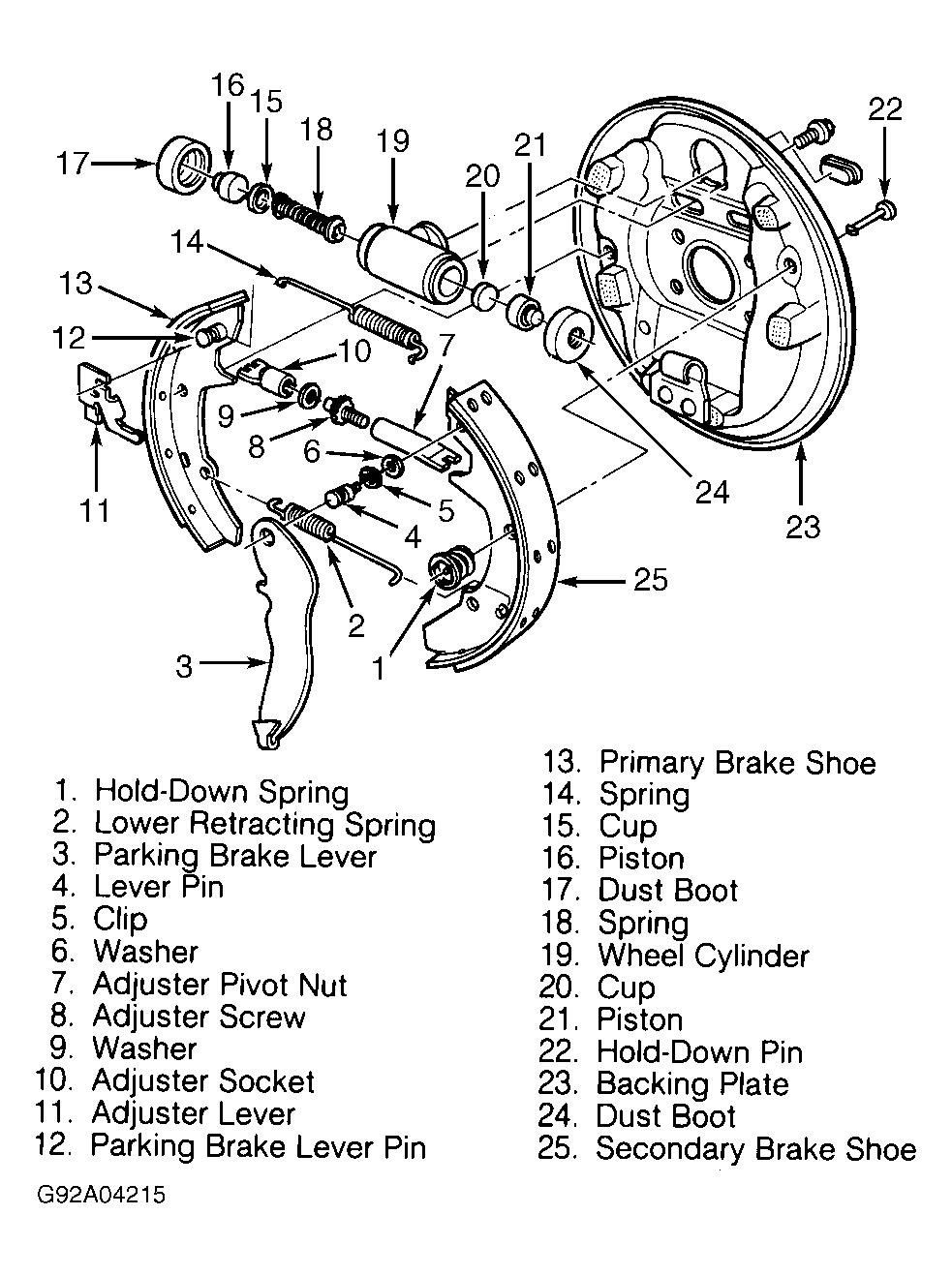 2004 ford taurus rear brakes where can i find a diagram of