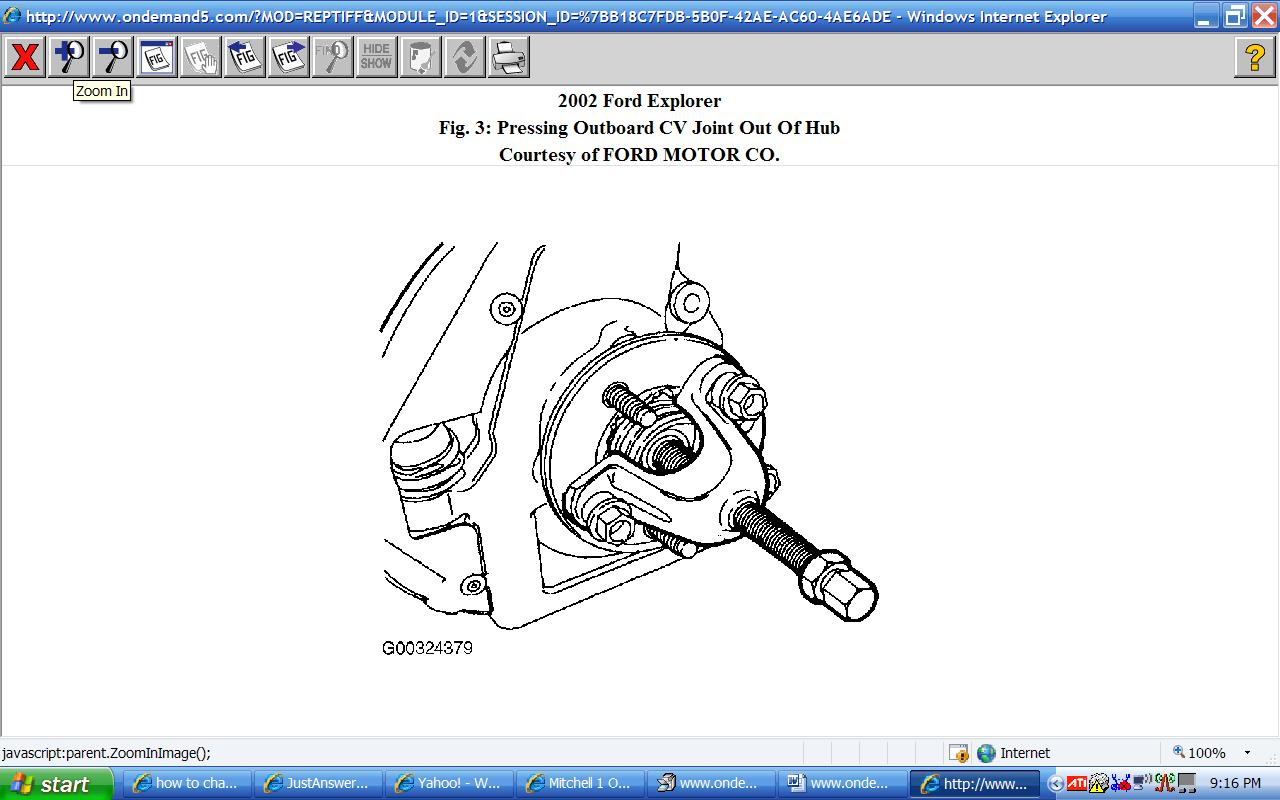 how to change the front wheel bearing of a ford explorer 2002