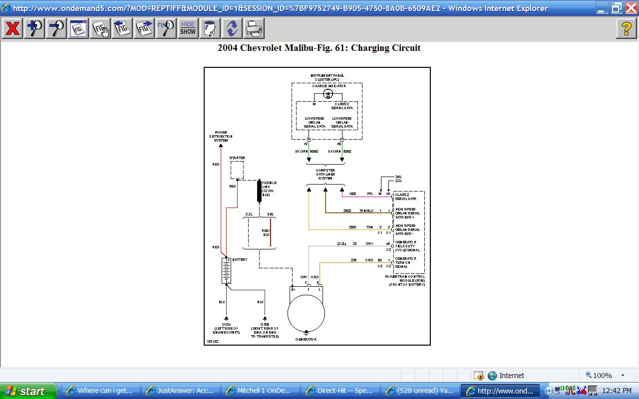 Where Can I Get A Wire Diagram For Charging System For A