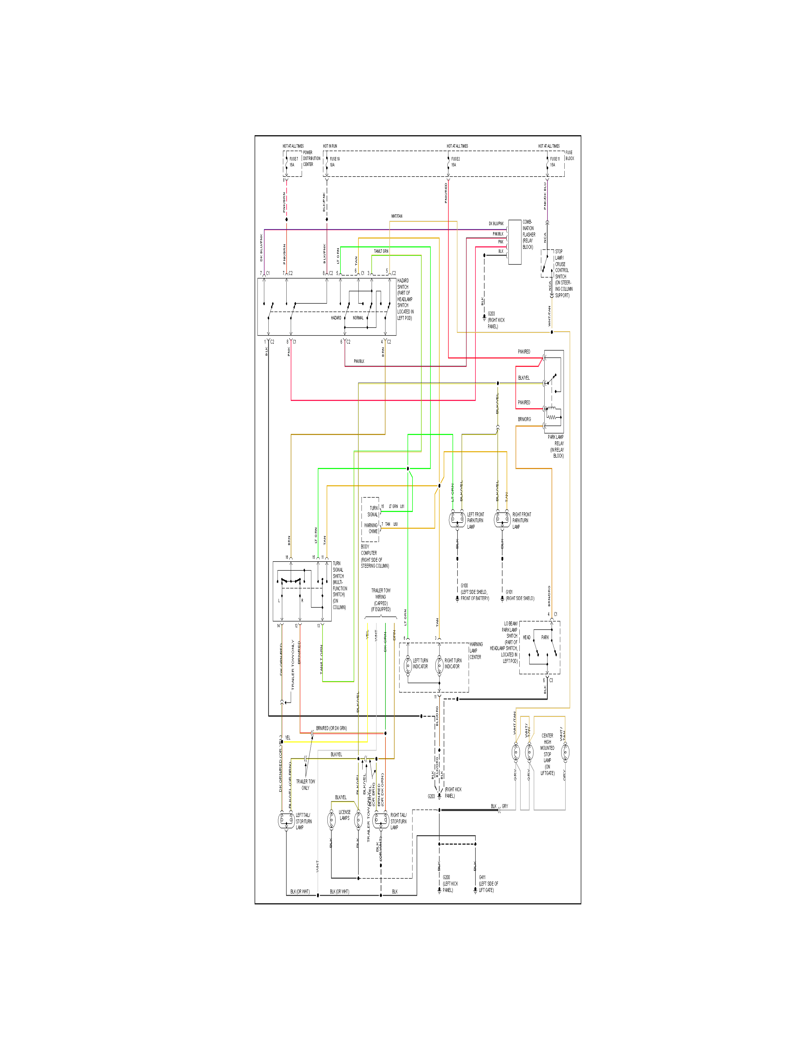voyager  wiring diagram  my 1995  dash light went  turn signal