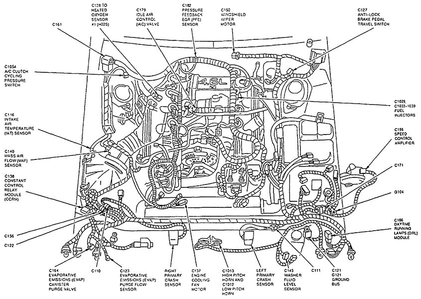 1996 mercury cougar xr7 engine diagram