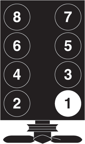 Diagram of the firing order for a 2001 jeep grand cherokee or