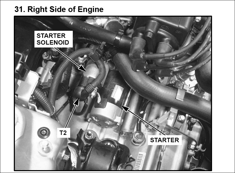 Starter Location On 2008 Honda Civic