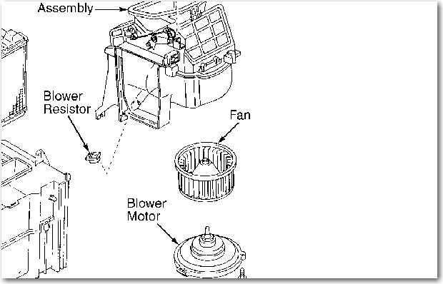 The Blower Fan Quit On My 1991 Toyota Corolla  Where Is Is