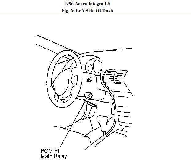 1996 acura integra 1 8ls 4dr fuel pump relay replacement