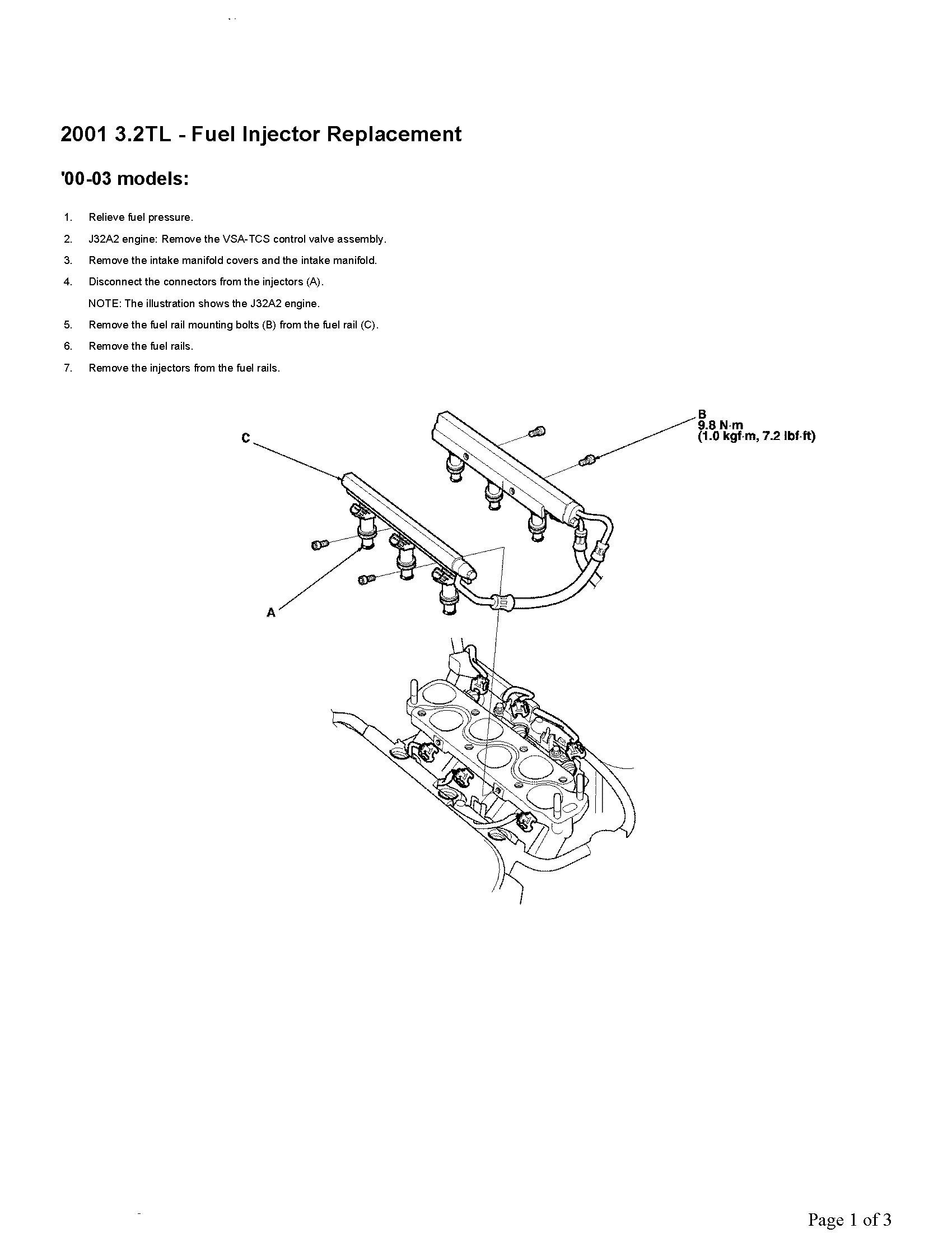 B18c1 Coolant Hose Diagram 2001 Acura Tl Wiring I Have A That Is Getting Few Misfire Codes It Rh Justanswer