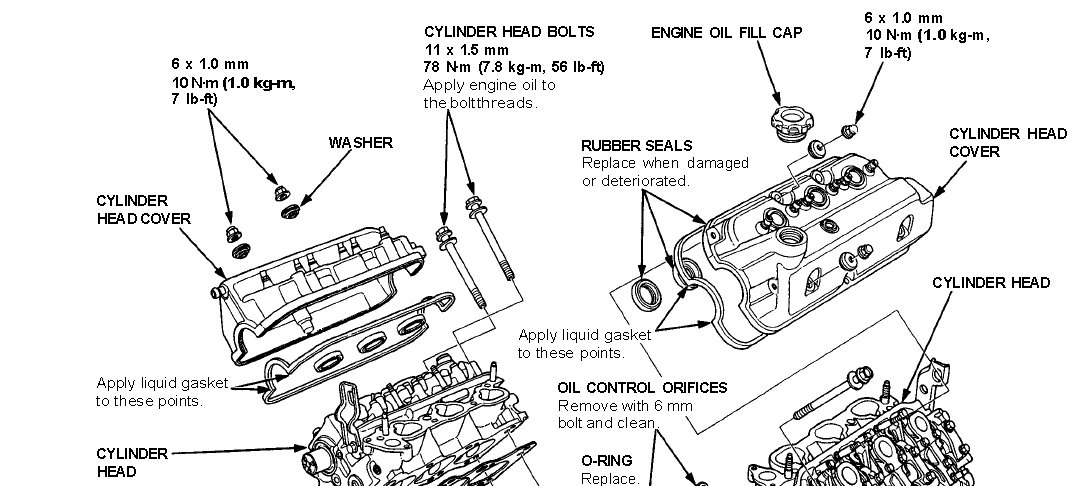 service manual  1992 acura legend head bolt removal