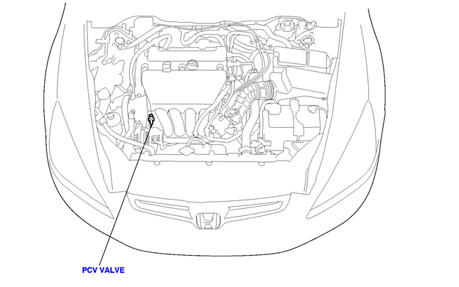 honda cr v pcv valve location