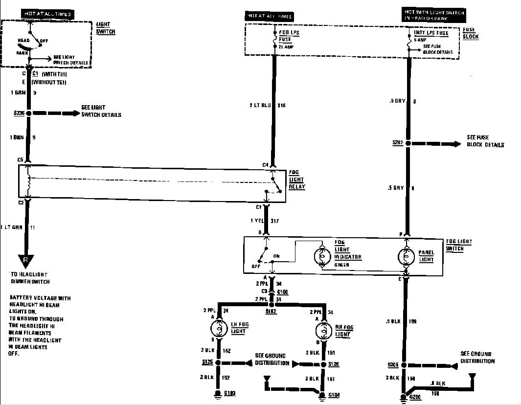 1992 Chevrolet Camaro Wiring Diagram I Have A Factory Fog