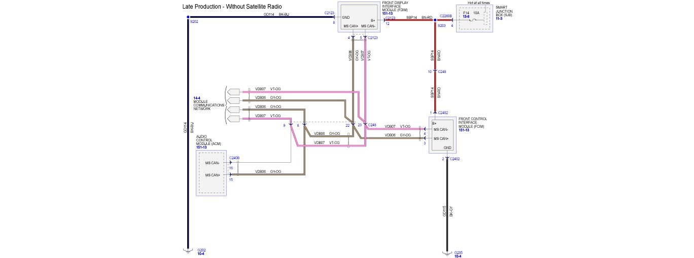 Need A Correct Stereo Wiring Diagram For The 2008 Ford