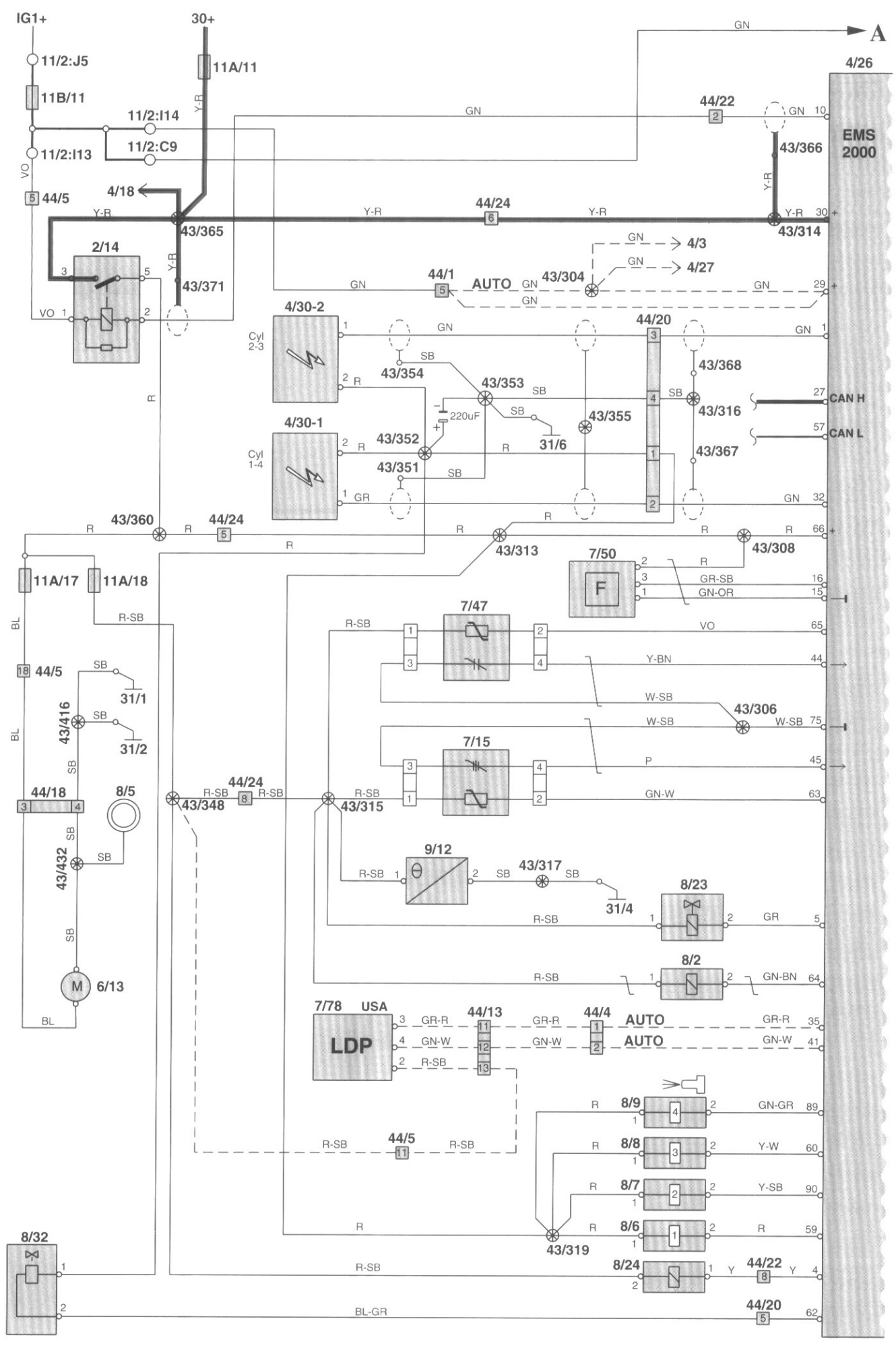 Schematic 4 Wire Oxygen Sensor H3 Wiring Library 3 O2 Diagram 2002 Volvo S40 Check Engine Light On Po036 Code Bank 2 Relay Rh Justanswer Com Anything