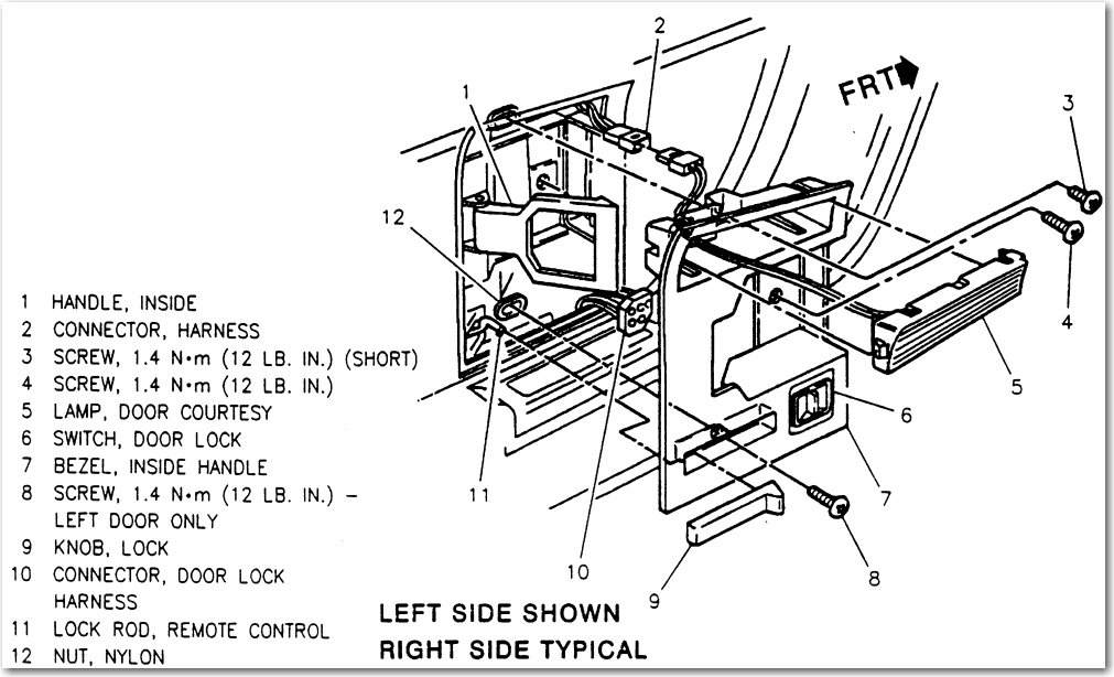 If Removing The Left Door Panel, Remove The Armrest Filler Panel, As  Follows: