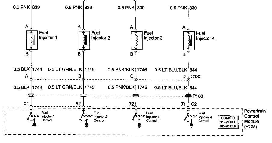 2002 Pontiac Grand Am Se 2 2 Has No Pulse To 2 Injectors