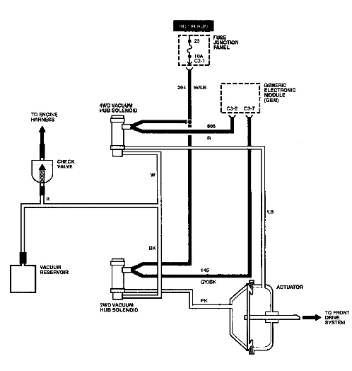 I would like a diagram of the vacuum system for a 2000