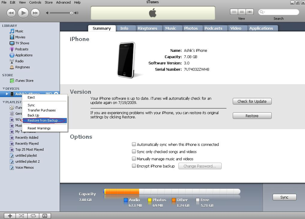 itunes for iphone i just downloaded the new iphone software once finished 12530