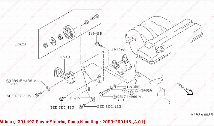 2006 nissan murano idler pully diagram  nissan  auto parts