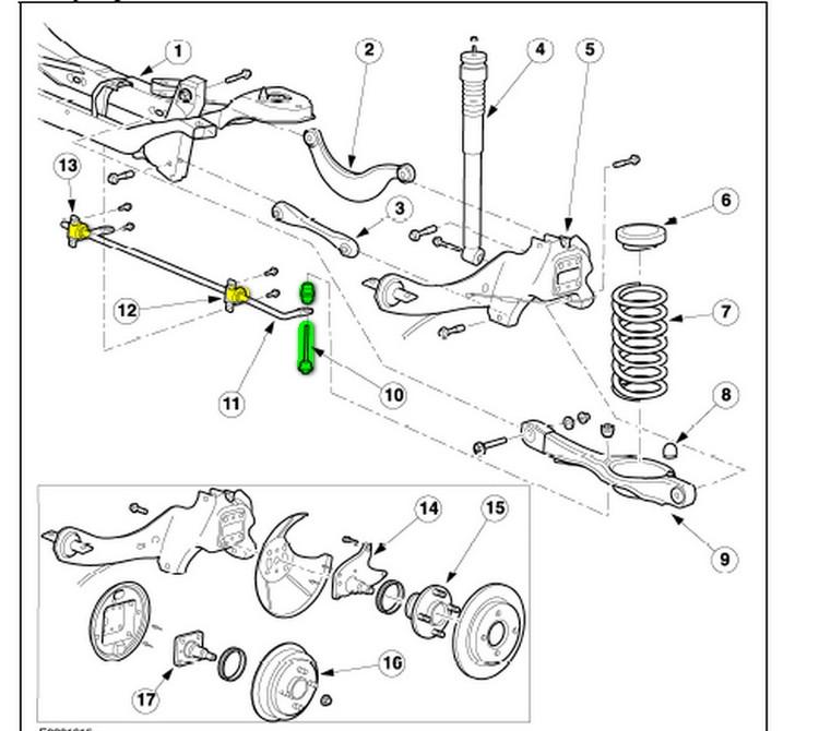 2002 Ford Explorer Rear Sway Bar Link Diagram