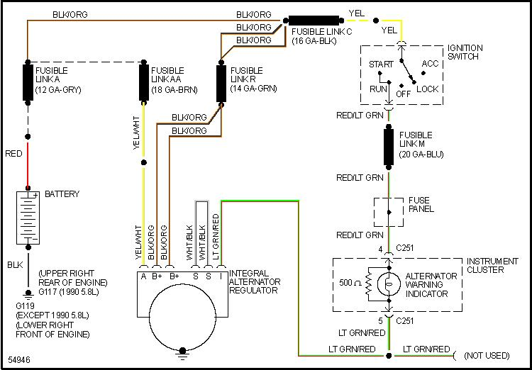 alt wiring diagram for 1990 mercury grand marquis 5 0 motor. Black Bedroom Furniture Sets. Home Design Ideas