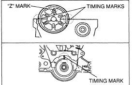 Ford laser timing marks