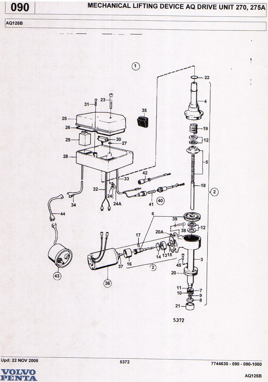 Volvo Penta Mechanical Tilt Wiring Diagram Electrical Diagrams 270 Trim Outdrive Application Motorola Alternator