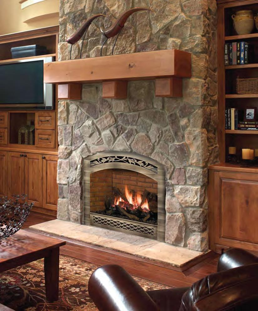 i u0027ve got a nice cut stone fireplace with a small arched opening