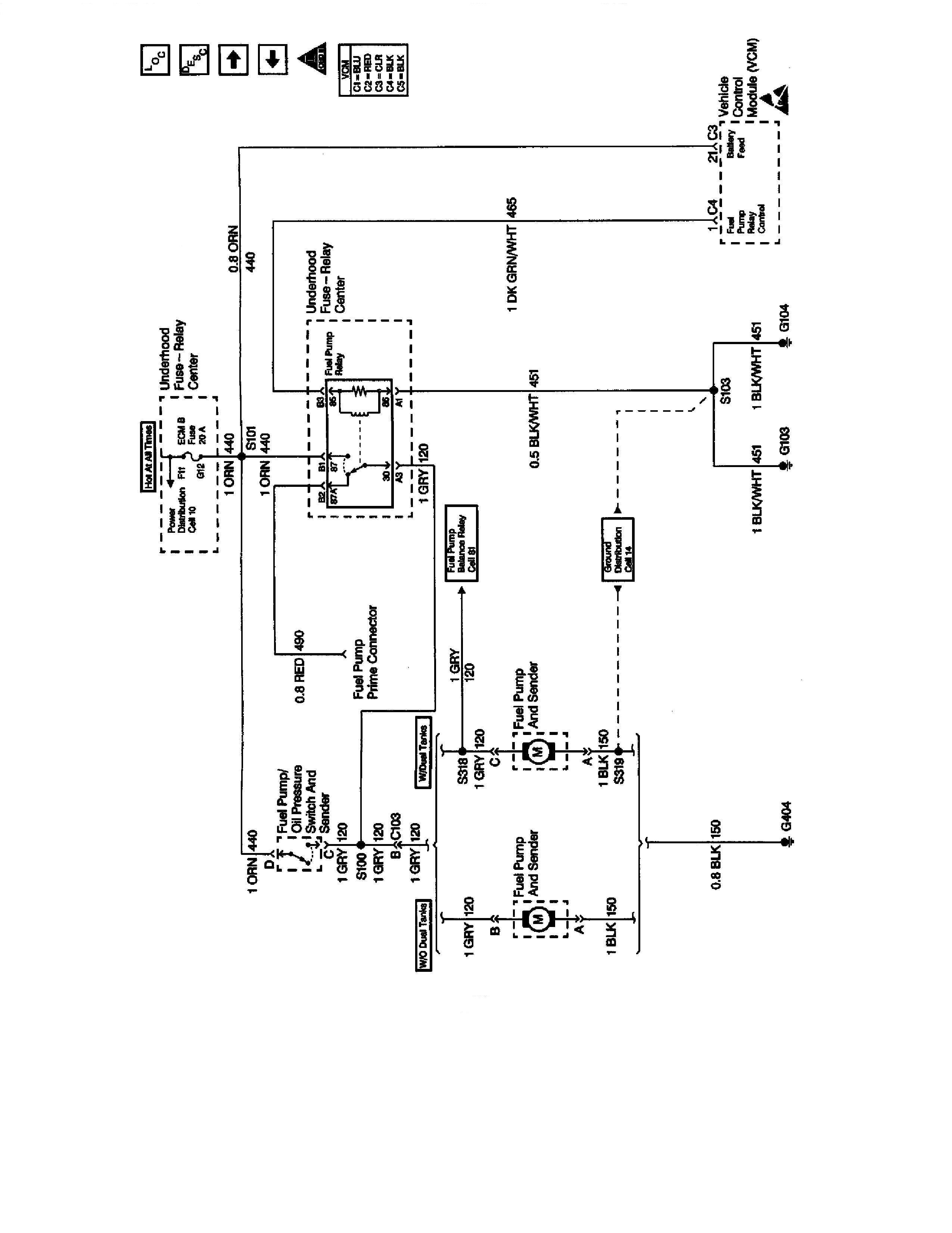 I have a 1998 GMC k1500 5.7L Vortec. The fuel pump started ...