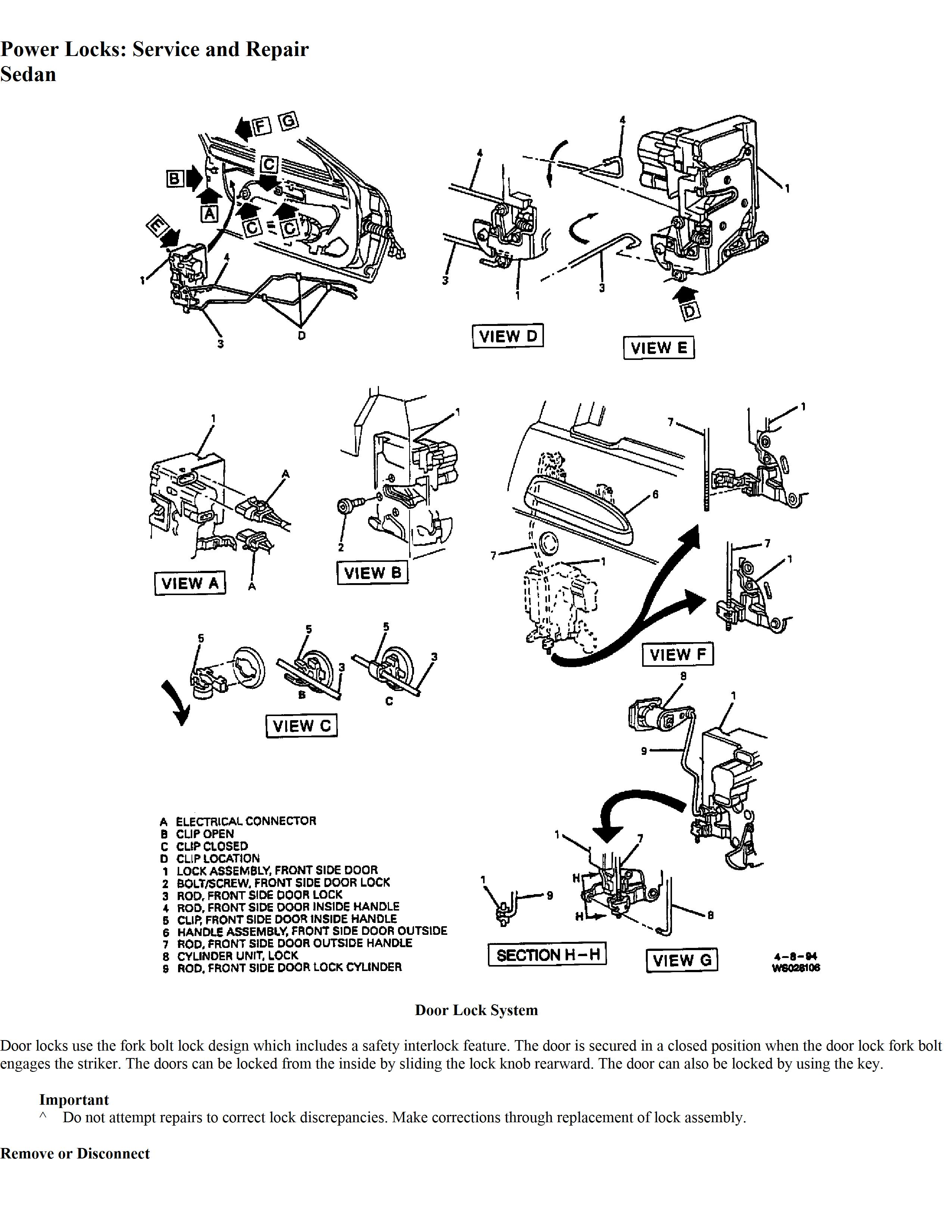 Chevy Lumina Door Lock Wiring Diagram Schematic Diagrams Interlock 4 Doors Free Download For A 96 Under Hood