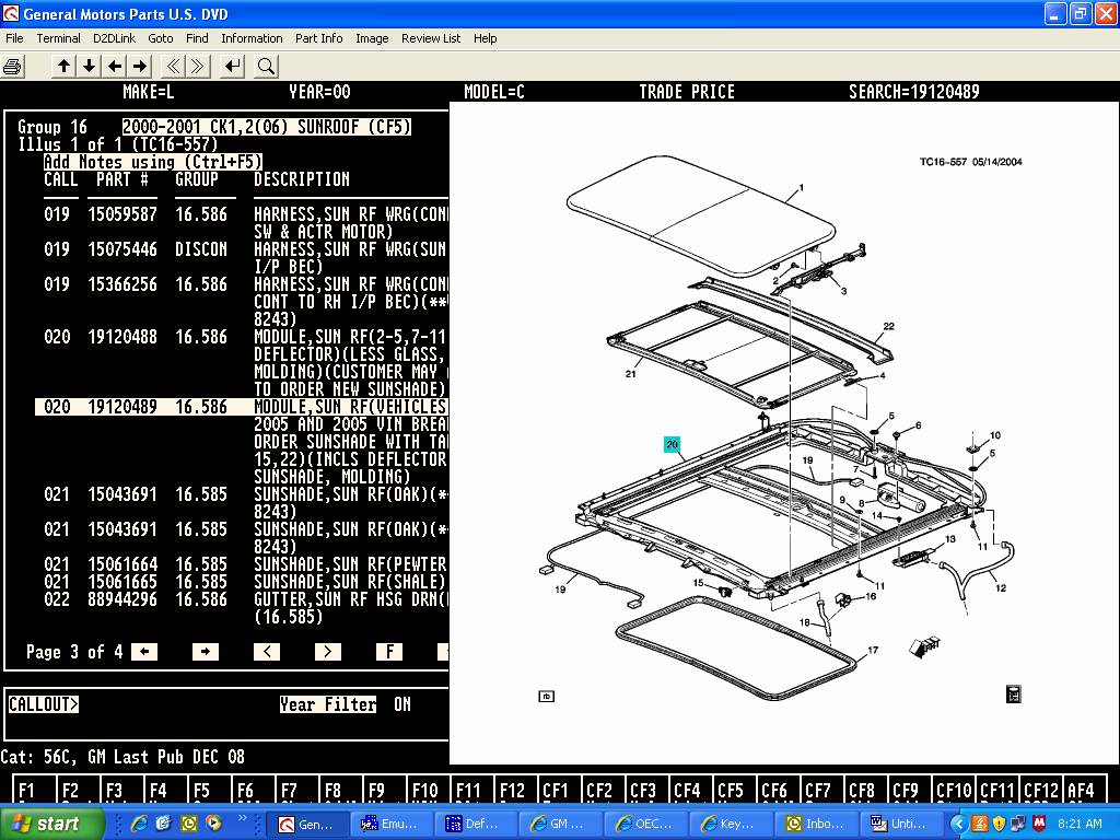 2000 chevy suburban: detailed schematic diagram..sunroof